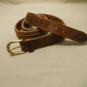 GAP Genuine Leather Brown Fabric Belt 36